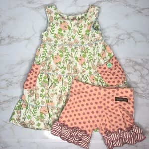 Matilda Jane Floral Dress And Bloomers Pink Green